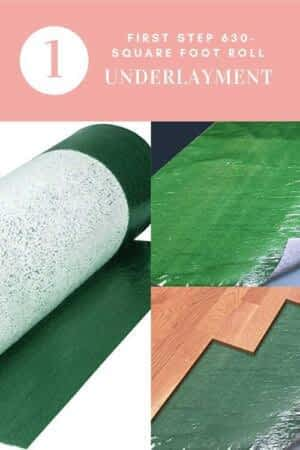 Square Foot Roll Underlayment
